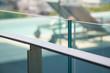 modern flat metal railing