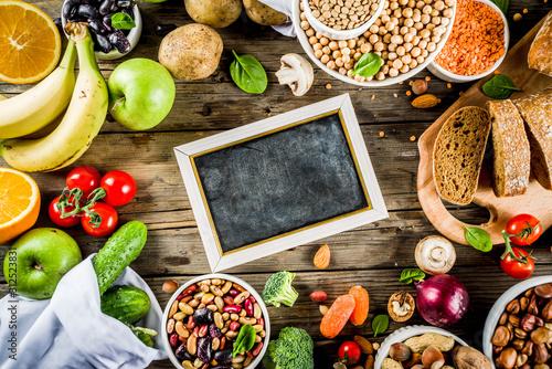 Fotomural  Good carbohydrate fiber rich food