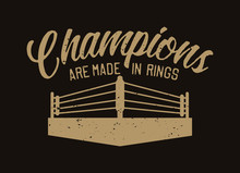 Boxing Quote Slogan Typography...
