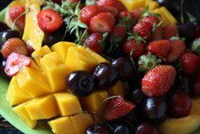 Tropical Fruits And Red Berries