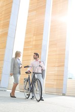 Businesspeople With Bicycle Co...