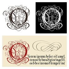 Decorative Gothic Letter O. Un...