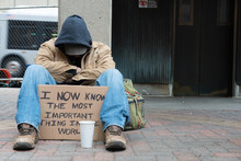 Depressed Panhandler
