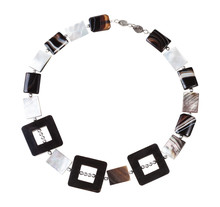 Necklace From Horn Frames, Aga...
