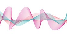 Abstract Colorful Wave Technology Lines Full Editable Stroke