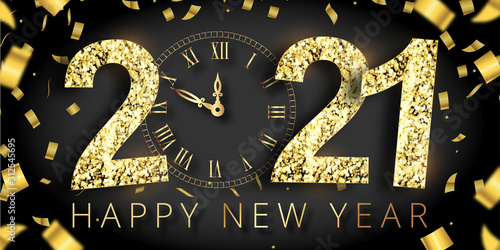 happy new year 2021 Canvas Print