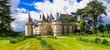 Leinwanddruck Bild - Most beautiful medieval castles of France - Chaumont-sur-Loire, Loire valley