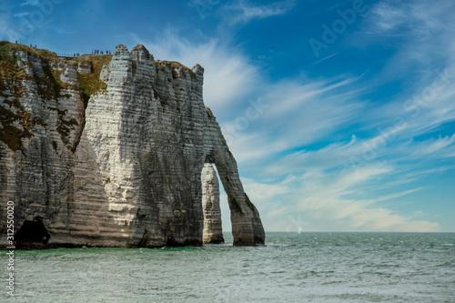 Fotomural Chalk cliffs at Cote d'Albatre. Etretat, France