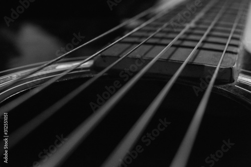 close up of guitar acoustic  - 312551051