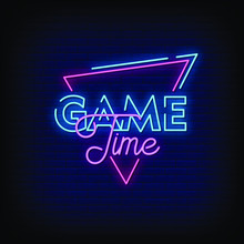 Game Time Neon Signs Style Tex...