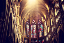 Inside View Of Prague Cathedral