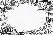 Graffiti Tags Border Isolated ...