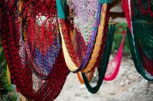 Knitted Hammocks On Display