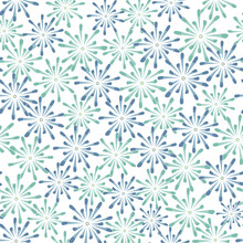 Vector Blue Green Flowers On A White Background. Background For Textiles, Cards, Manufacturing, Wallpapers, Print, Gift Wrap And Scrapbooking.