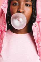 Teenager Portraits In Pink.