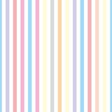 Seamless vector pastel stripes background or pattern illustration. Desktop wallpaper with colorful yellow, red, pink, green, blue, orange and violet stripes for kids website background - 312570088