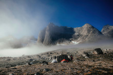 Tourist Camp On Rocky Dry Terr...