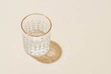 Glass Of Water With Back Lighting