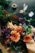 Detail Of Flower Bouquet With ...