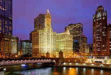 Wrigley Building Along Chicago...
