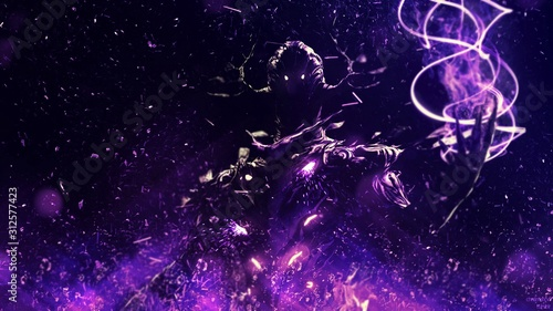 Photo abstract background with stars