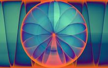 Rendu Numérique De La Naissance D'une Rose Géométrique, Abstraite