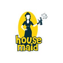 Housemaid Logo Stock Vector Il...