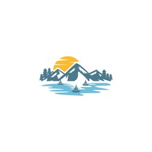 Lake Logo Mountain Vector Images
