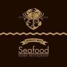 Seafood Menu Design With Crab ...