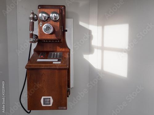 Obraz レトロな古い公衆電話 - fototapety do salonu