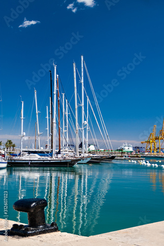 Boats at the Port of Valencia, Spain