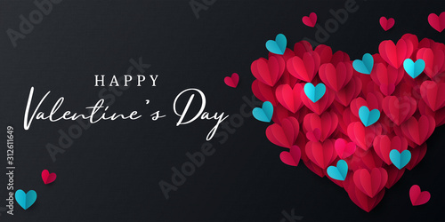 Fotografie, Tablou Happy Valentine's Day banner