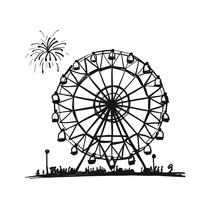Ferris Wheel, Sketch For Your Design