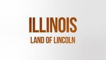 Illinois State Name Text Anima...