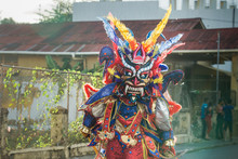 Native Man Defile In Colorful ...