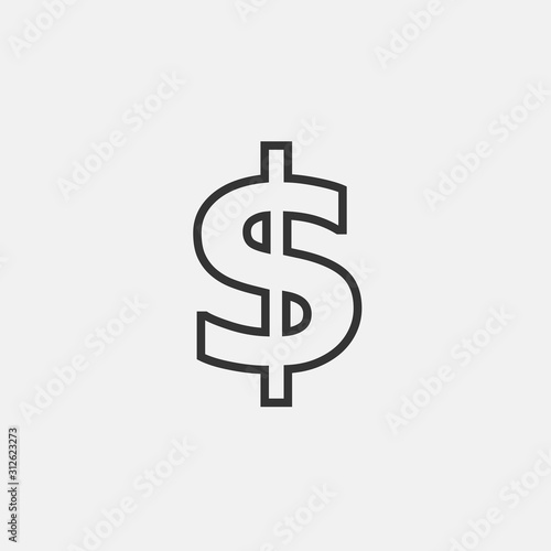 Fototapeta dollar currency icon vector for web and graphic design obraz