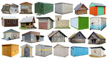 Usual Noname Abandoned Wooden And Steel  Rural Sheds And   Barns  For Storage Of Firewood And Agricultural Tools  Isolated