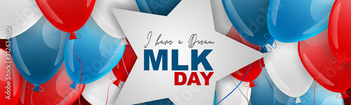 Martin Luther King day banner or website header Wallpaper Mural