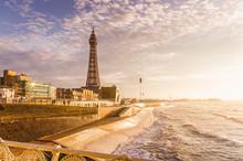 Blackpool Promenade Bathed In Winter Sunlight