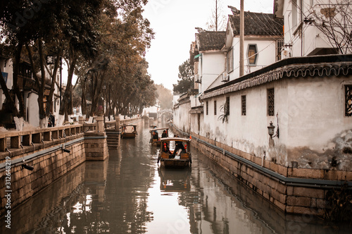 Suzhou old town and canals china