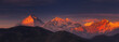 canvas print picture - Sunrise on Dhaulagiri, Nepal