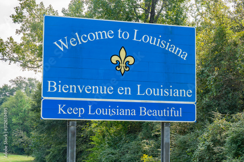 Photo Welcome to Louisiana Sign