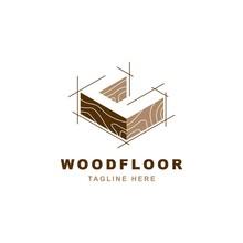 Wood Logo  With Letter C Shape Illustration Vector Design Template