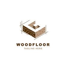 Wood Logo  With Letter G Shape Illustration Vector Design Template
