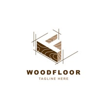 Wood Logo  With Letter F Shape Illustration Vector Design Template