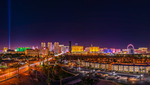 Skyline Of The Casinos And Hotels Of Las Vegas Strip