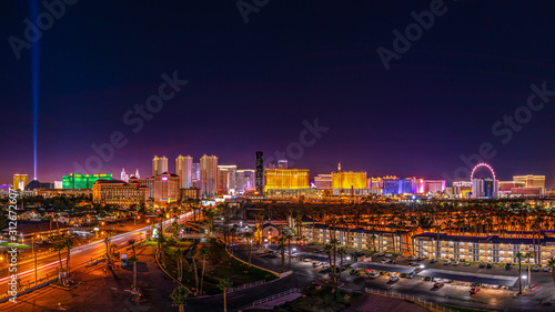 Skyline of the Casinos and Hotels of Las Vegas Strip Wallpaper Mural
