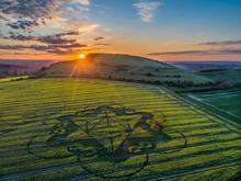 Sunset At A Crop Circle.