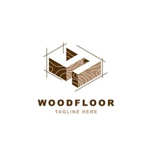 Wood Logo  With Letter Y Shape Illustration Vector Design Template