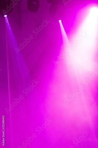 Stage lights. Bright soffits. Concert light - 312680413